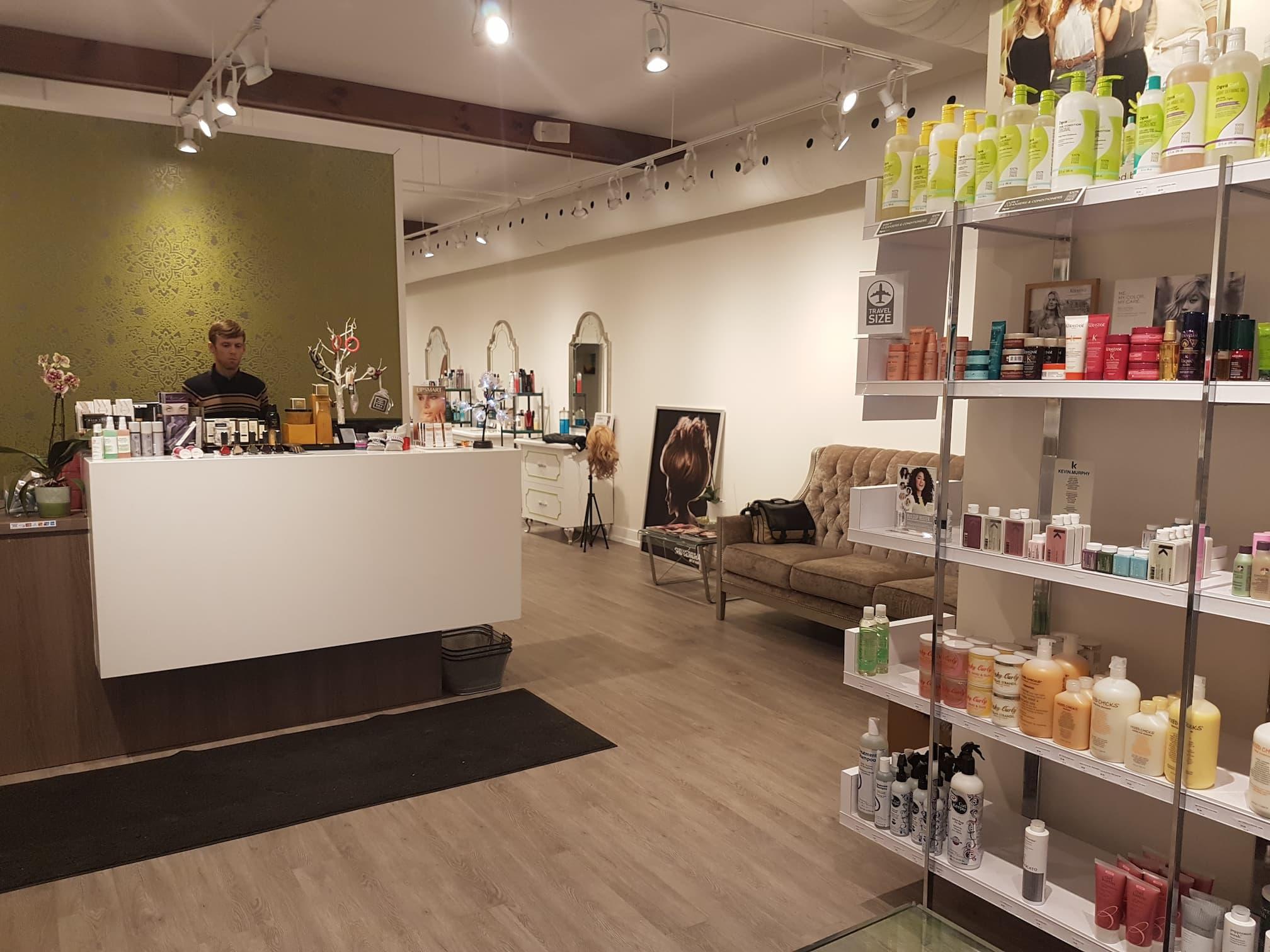 delineation salon interior